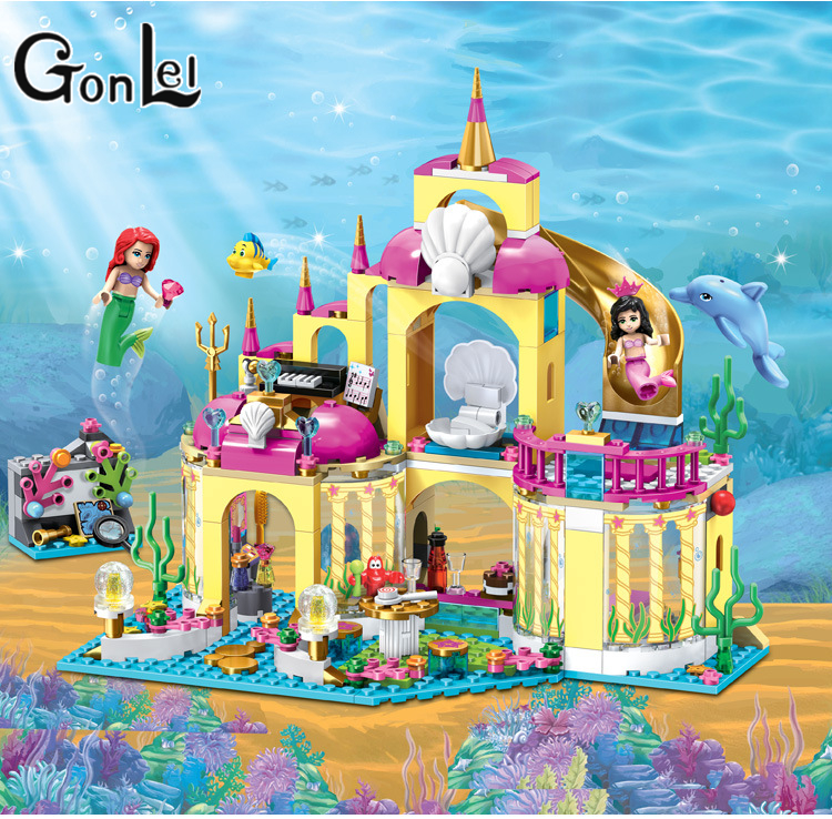 GonLeI 10436 Princess Undersea Palace Model Building Kits minis Blocks Bricks Girl Toy Gift Compatible With Lepin Friends 41063 new undersea palace building blocks set 400pcs bricks toys for girls compatible with lego princess toys block girls toy gift