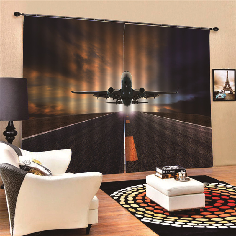 Airplane Modern Blackout Curtains for Living Room Bedroom Window Fabric Drapes Custom made 3D Digital Print MA17Airplane Modern Blackout Curtains for Living Room Bedroom Window Fabric Drapes Custom made 3D Digital Print MA17