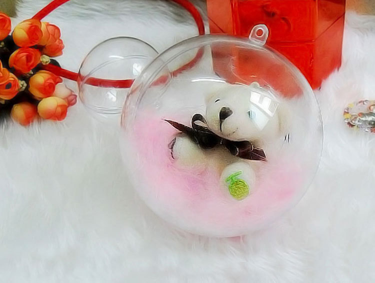 10pcs 7/8/9/10cm Clear Christmas Decoration Hanging Ball