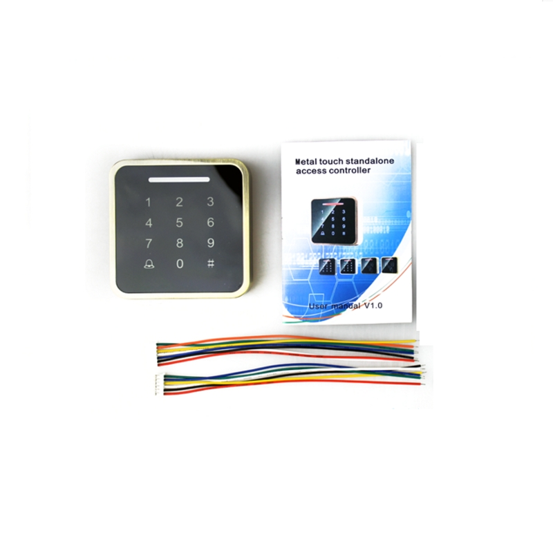Metal RFID Reader 125kHz/13.56mhz Proximity Door Access Control Keypad Support 3000 Users Electric Digital Password Door Lock lpsecurity 10 tags or 10 cards 125khz gate door lock rfid keypad proximity reader access controller wg26 input for slave reader