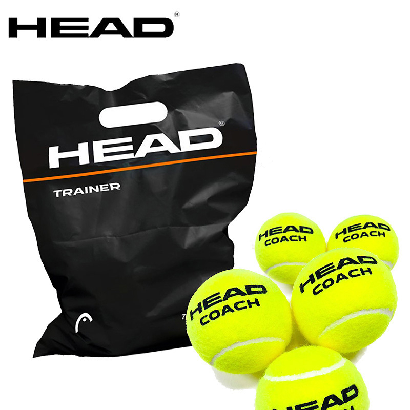 3/6/12PCS Head Tennis Ball Tennis Training Ball Rubber Wool Competition Tenis Ball For Tennis Trainer Official Tennis Ball Tenis