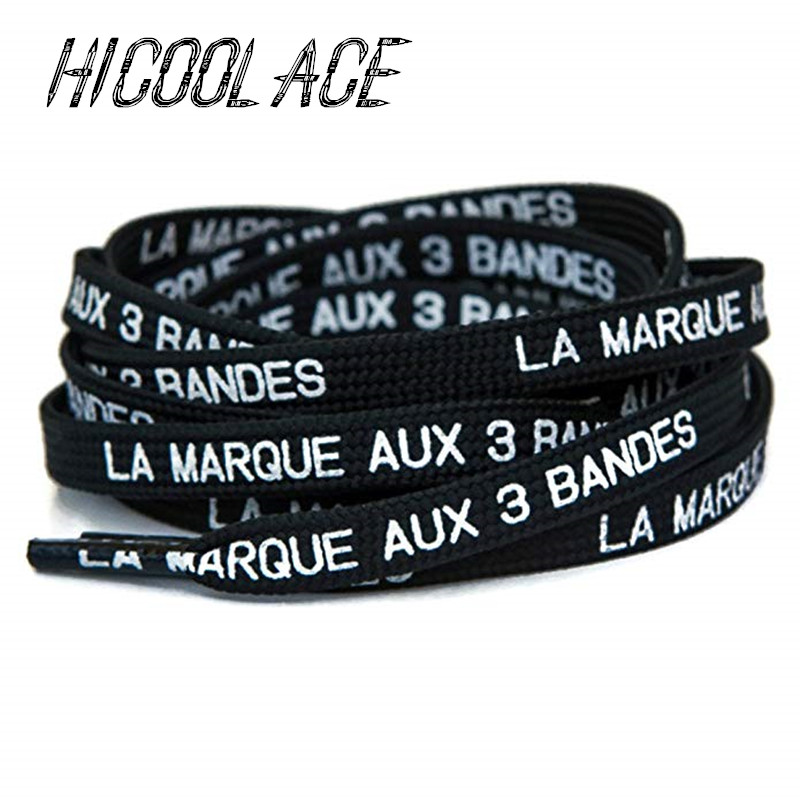 2019 New Flat Printed Shoelaces Brand With 3 Stripes Laces In French Printing Shoelaces For NMD/Ultraboost