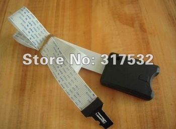 wholesale sd card extension cable SD to TF micro sd card cable for car GPS and car DVR support 32GB 20pcs/lot Free shipping