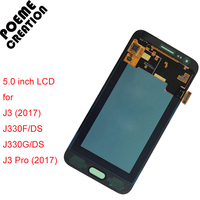 LCDs Display Touch Digitizer Screen With Brightness Adjustment For Samsung Galaxy J3 2017 J330 J330F DS
