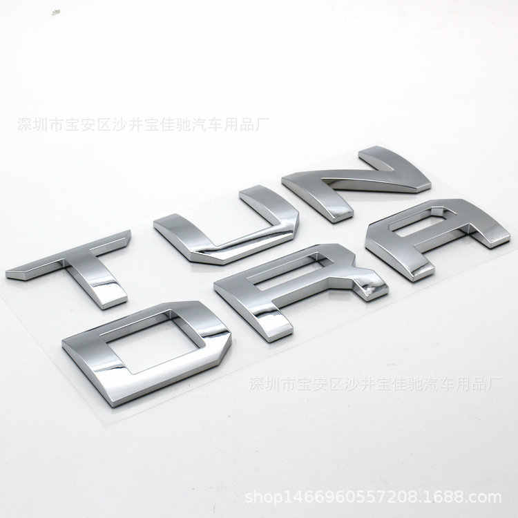 Para Toyota Tundra 2014, 2015, 2016, 2017, 2018 portón trasero 3D carta cubierta emblema insignia pegatinas de coche estilo Accesorios del coche etiqueta