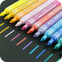 STA Colored Acrylic Painter Art Marker Set 2mm Round Fine Tip Multifunction Highlighter Waterproof Paint Fabric
