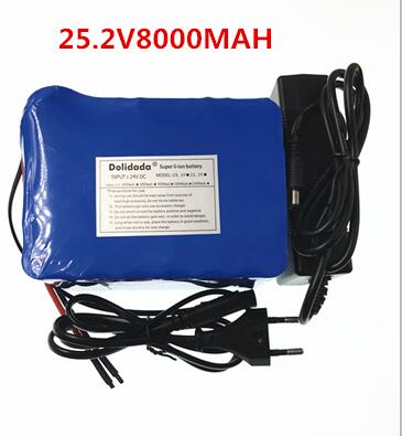 2018 New 25.2V 8000 mah 18650 Battery lithium battery 25.2v Electric Bicycle moped /electric/lithium ion battery pack+Charger 2016 promotion new standard battery cube 3 7v lithium battery electric plate common flat capacity 5067100 page 5