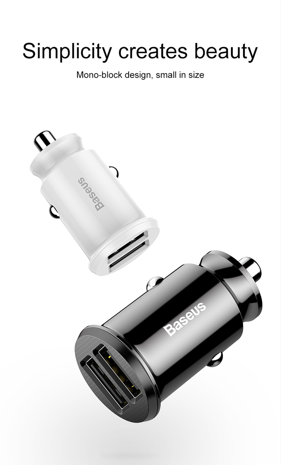 Baseus Mini USB Car Charger For Mobile Phone Tablet GPS 3.1A Fast Charger Car Charger Dual USB Car Phone Charger Adapter in Car-in Car Chargers from Cellphones & Telecommunications on Aliexpress.com | Alibaba Group 5
