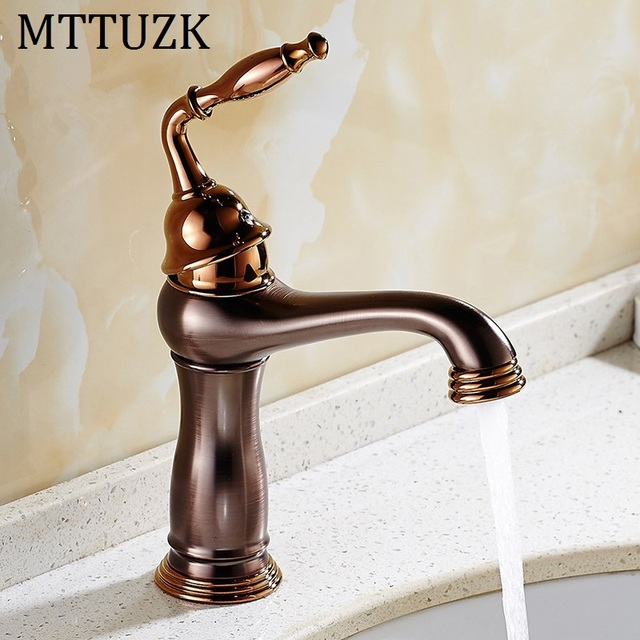 Mttuzk Free Shipping Oil Rubbed Bronze Basin Faucet Br Vessel Sink Hot And Cold Mixer