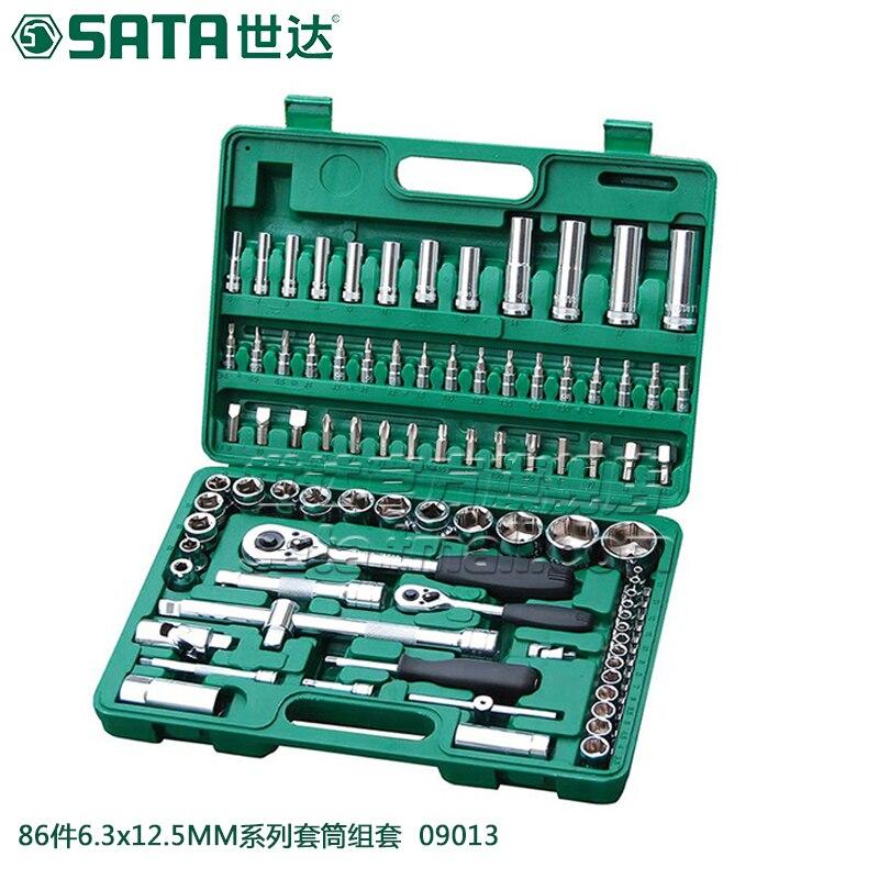 SATA 86pcs Auto Repair Kit, Ratchet Wrenches Auto Tool Set 09013