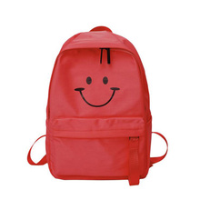 Casual Ladies Temperament Backpack Waterproof And Wear-Resistant Nylon Smiley Bag Backpack 2019 New Breathable Student Backpack fashionable nylon wear resistant men backpack
