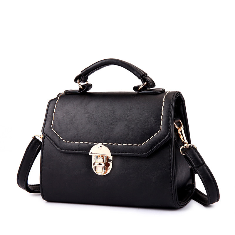 Retro Lock Flap Closure Bag Korean Style Vintage Women Small font b Handbag b font Vintage
