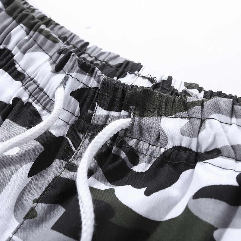 플러스 사이즈 M-6XL 위장 남성용 반바지 2019 밀리터리 코튼 스트리트웨어 신축성있는 허리 인과 비치 쇼트 옴므 버뮤다 Masculina