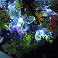 Borboleta Solar Luz Cordas Coloridas Lâmpadas Bonito Projeto Animal para Jardim, gramado, pátio, vestido de casamento, partido, quarto, natal