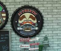 Large 3D effect tin sign FRONTIER Vintage Metal Painting Beer lid Bar Wallpaper Decor Retro Mural Poster Craft 50x50 CM
