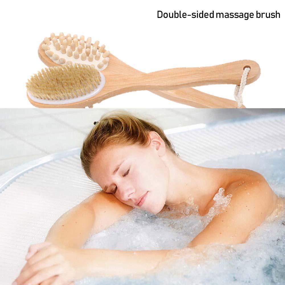 Escova de Massagem Face Natural Javali Alça Spa