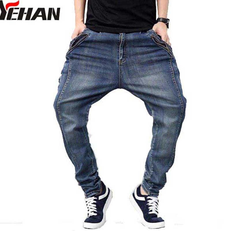 Neue männer Hosen Plus Größe Stretch Jeans Männer Hip Hop Baggy - Herrenbekleidung