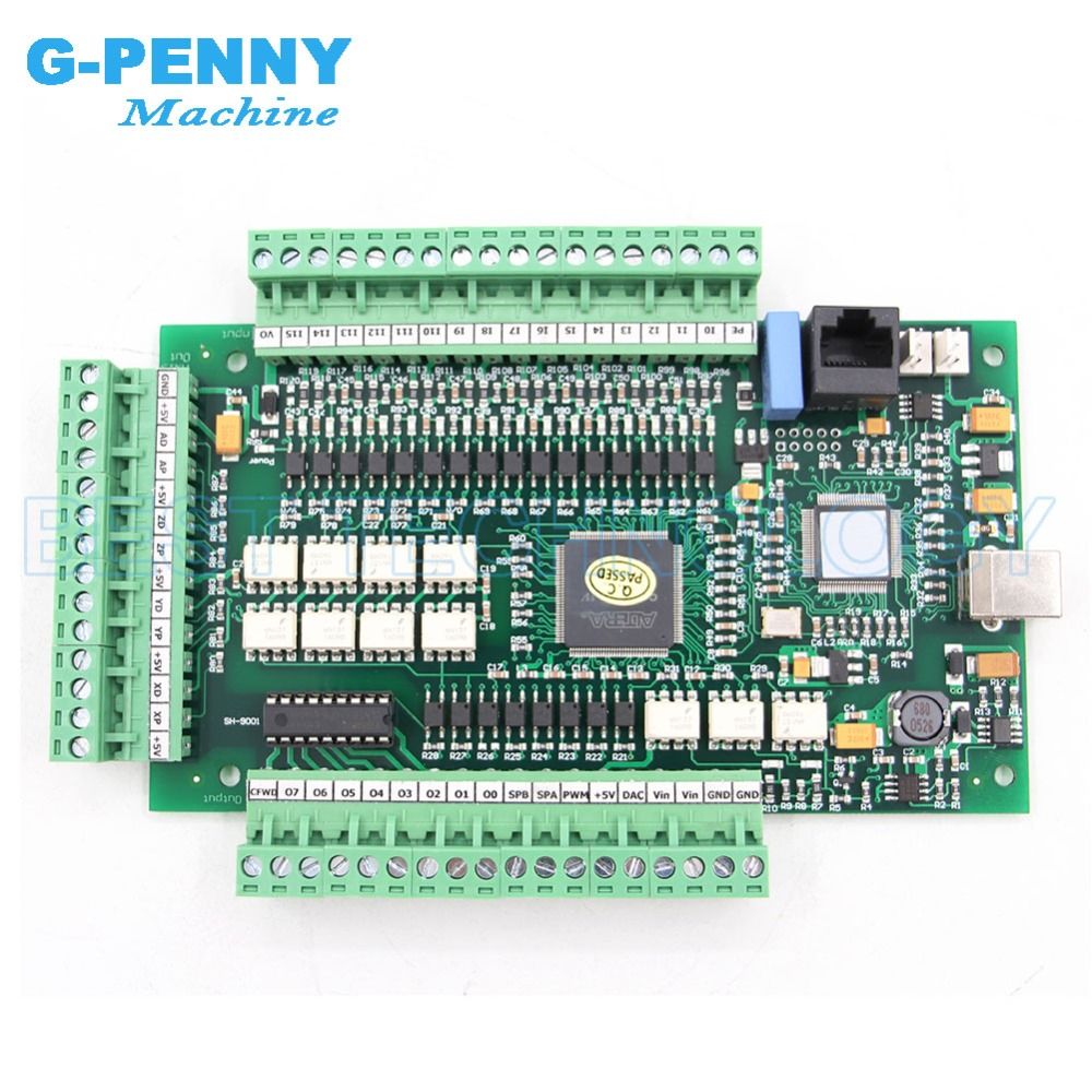 US $102.3 7% OFF|MACH3 4Axis / 3axis USB control board Motion Control on