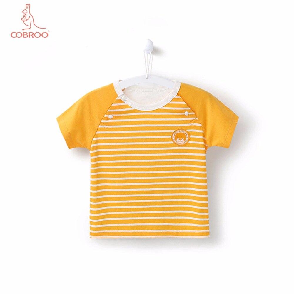 COBROO Baby-streepjes-tops met O-hals korte mouwen Unisex-baby - Babykleding - Foto 1