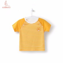 COBROO Baby Stripe Tops with O-Neck Short Sleeves Unisex-Baby Cotton T-Shirt for 3-24 Months все цены