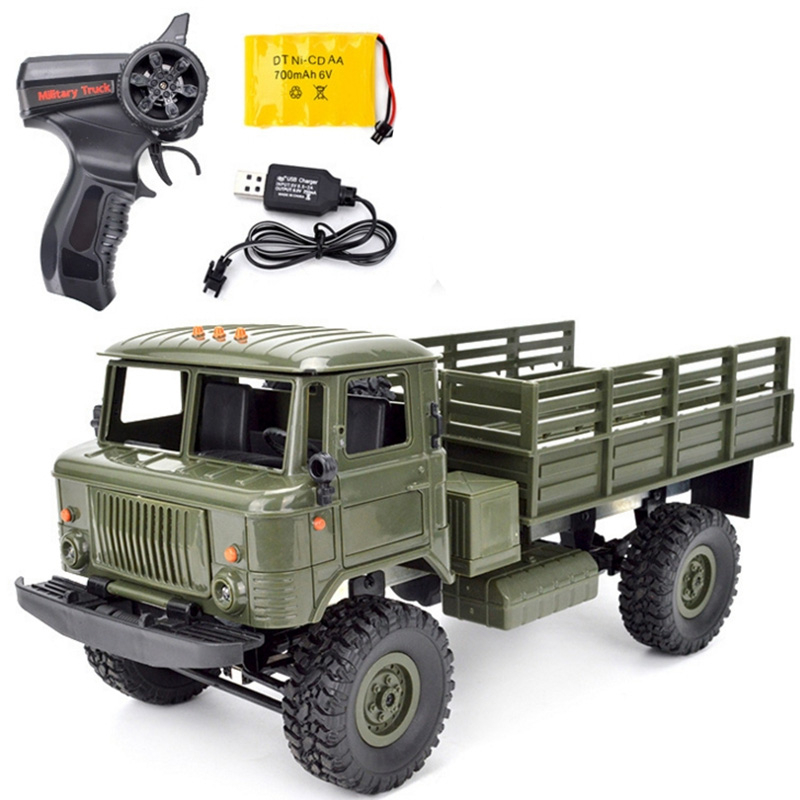 RC Military Truck 2.4G 4WD 1:16 Off road RC Car Vehicle Toy Climbing Car Remote Control Toys Radio Controlled Machine Kids Gift
