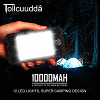 Tollcuudda Solar Power Bank 10000mah Mobile Phone External Poverbank Charger For IPhone Xiaomi Battery Portable Bateria