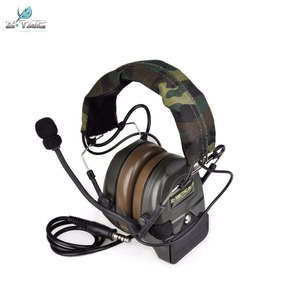 Image 3 - Z טקטי Airsoft Comtac Z054 zComtac ICH אוזניות סגנון טקטי אוזניות OD קסדת רעש ביטול אוזניות