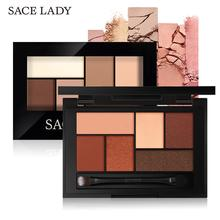 SACE LADY Matte Eyeshadow Palette MakeUp 8 Colors Glitter Eye Shadow With Brush Make Up Long Lasting Waterproof Natural Cosmetic