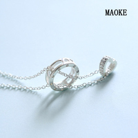 S925 Sterling Silver Simple Ring Short Clavicle Chain for Women's Fashion Gifts