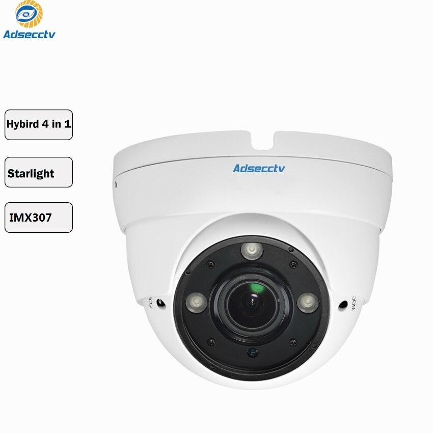 STARVIS SONY IMX307 Varifocal lens 1080P Hybrid AHD CVI TVI CVBS 4 IN 1 OSD Menu Free Switch CCTV Dome Camera AR MHD2301RL