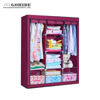 JUH Strong Large Simple Wardrobe Combination Folding Wardrobe Double Wardrobe Storage Steel Frame Large Size Home Furniture