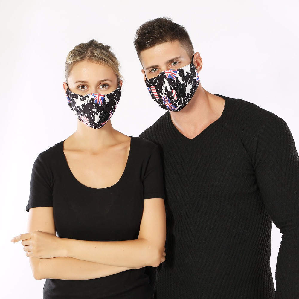 10pcs/Pack Autumn and winter new adult couple fashion sports personality Korean pm2.5 with breathing valve mask Child