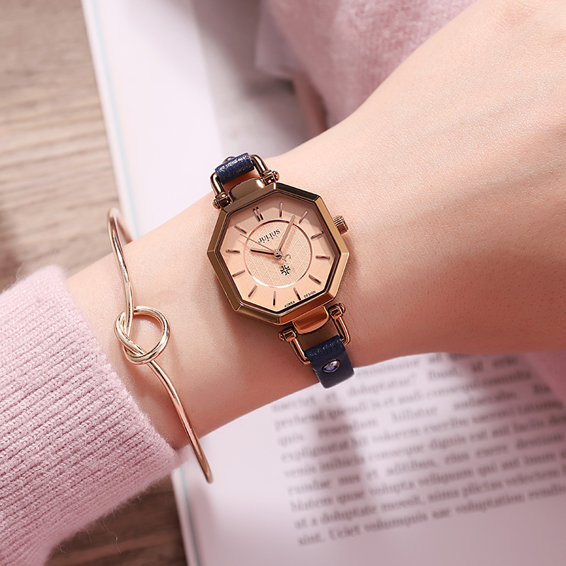 Korean style fashion trend watch A thin watch Lady's watch Personality style rhombud woman watch with leather|Women's Watches| |  - title=