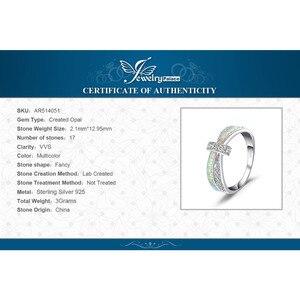 Image 5 - Jewelrypalace Tạo Ra Trắng Opal Nhẫn Nữ Bạc 925 Cho Nữ, Nhẫn Nữ Xếp Chồng Vòng Dây Bạc 925 Trang Sức Mỹ Trang Sức