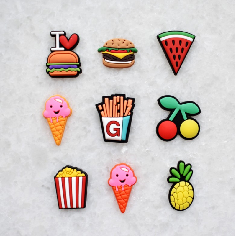 Sentcharm 1 Set Cartoon Food Fruits Novelty Shoes Buckles Lovely Cool Ornament For Garden Shoes Croc Shoes Shoe Accessories