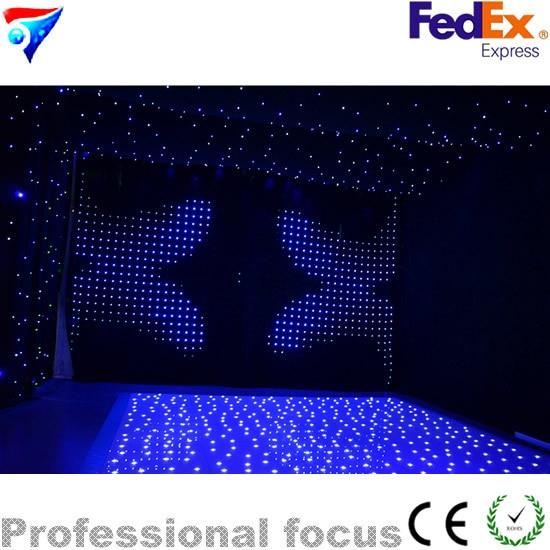 18ft * 18ft FedEx звезды СИД танцпол свет белый Цвет Star Танцы пола для Свадебного Шоу вечерние дискотека свет