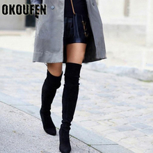 2018 new style  boots women shoes spring and summerover keen high heels long