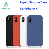 SFor IPhone X NILLKIN FLEX Liquid Silicone Phone Case For IPhone X Case IPhone 10 Soft