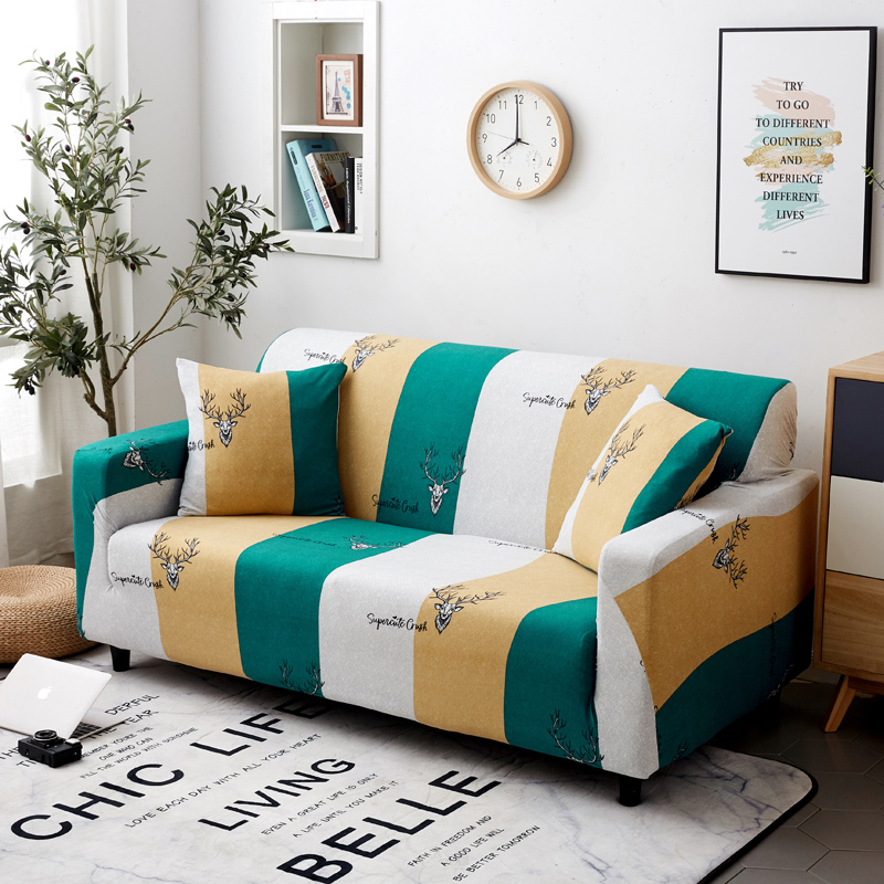 Image 3 - Parkshin Deer 1/2/3/4 Seater Slipcover Stretch Sofa Covers Furniture Protector Polyester Loveseat Couch Cover Sofa Towel-in Sofa Cover from Home & Garden