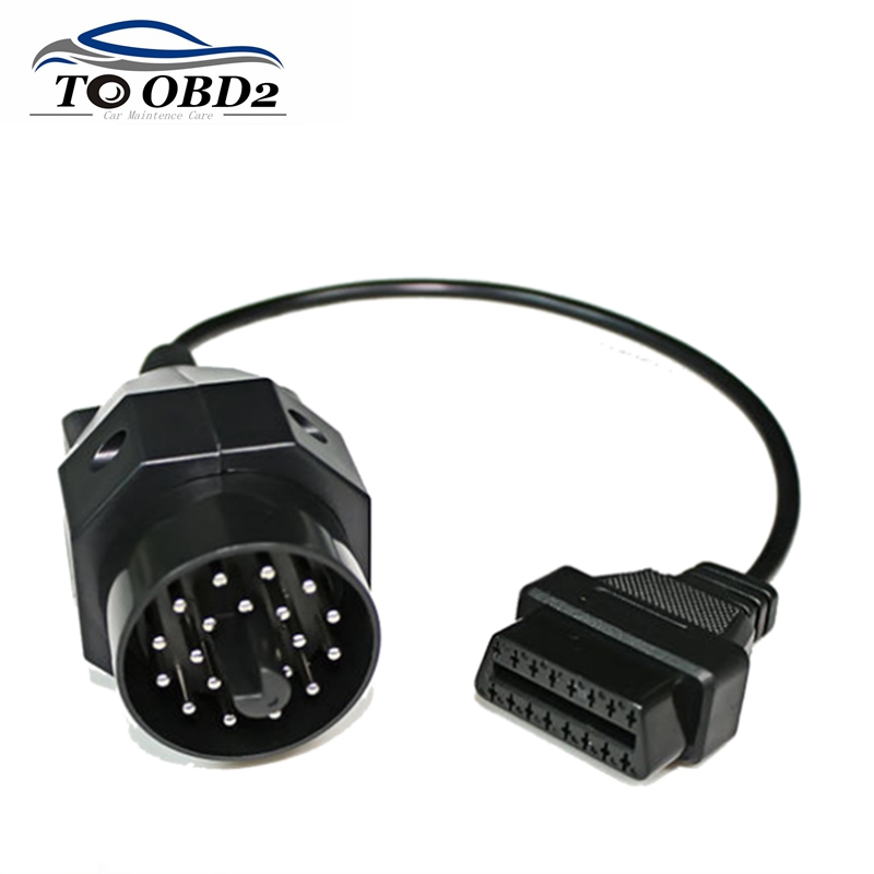 Newest OBD II Adapter For BMW 20 Pin To OBD2 16 PIN Female Connector E36 E39 X5 Z3 For BMW 20pin