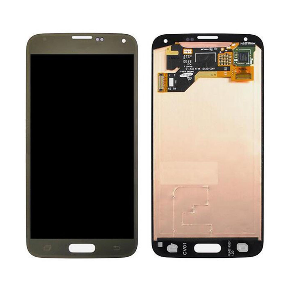 OEM For Samsung Galaxy S5 i9600 G900F G900H G900M G9001 Gold LCD Screen Touch Digitizer