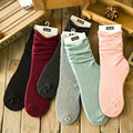 2017 fashion New Autumn Winter Candy Color Cotton Socks Korean Personality Women Socks Wholesale soft warm socks