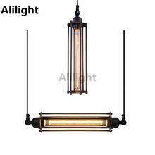 Modern Punk Style Black Iron Art E27 Rustic Ceiling Light Without Bulb Dining Room Lamp Indooor Lighting Decor Fixtures
