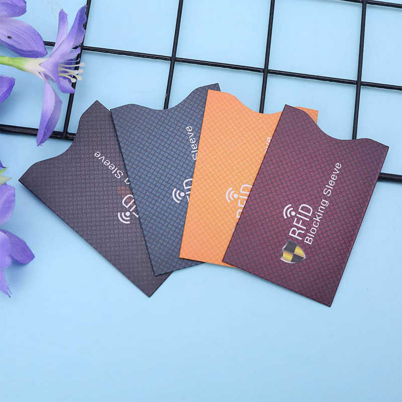 10 pcs / set of anti-theft RFID card for  bank card  NFC security cardanti-theft protective cover prevent unauthorized scanning