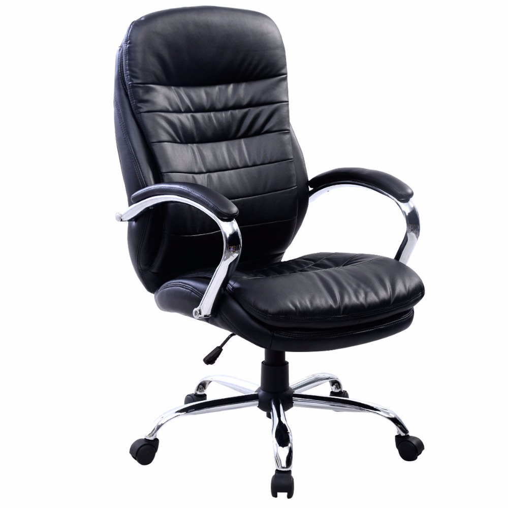 New PU Leather High Back Desk Office Chair Executive Ergonomic Computer Task HW50279 racing bucket seat office chair high back gaming chair desk task ergonomic new hw54987ltbl