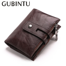 лучшая цена European Style Men Wallets Genuine Leather Pocket Wallet with Card Holder Wallets Zipper Coin Wallet Purses