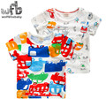 Retail 2-8 years short-sleeved T-shirt bamboo cotton fashion graffiti kids children summer