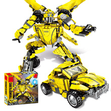 SLPFDeformation Transformation Robot Car Movie Children Educational Diy Assembled Boy Building Blocks Toys Compatible LegoingI21