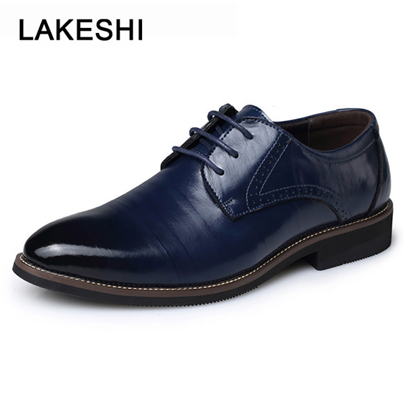 2019 New High Quality Mens Dress Shoes Brogues Shoes Men Genuine Leather Business Formal Shoes Male Shoes Adult Oxfords Footwear