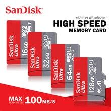 بطاقة ذاكرة سانديسك الترا مايكرو SD بطاقة 16GB 32GB 64GB 128GB 256GB 400GB microSDHC/microsdxc U1 C10 A1 UHS I TF بطاقة مع محول